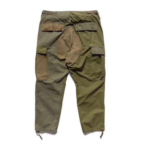 Uniform Experiment Fabric Mix Cargo Pants Khaki, Bottoms