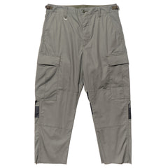 Uniform Experiment Hem Cut Off Cropped Cargo Pants Khaki, Bottoms
