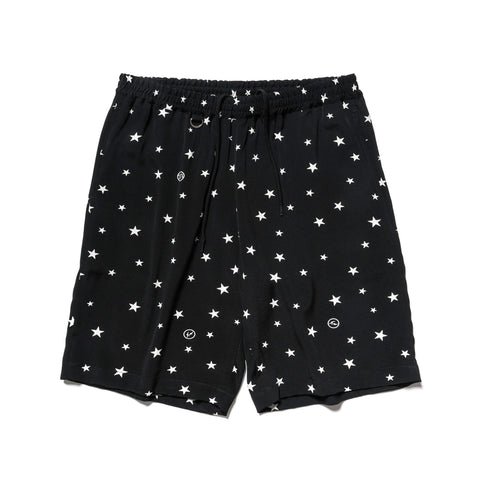 Uniform Experiment Rayon Patterned All Over Easy Short -Star- Black, Shorts