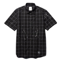 Uniform Experiment S/S Dripping Regular Collar Shirt Black, Shirts