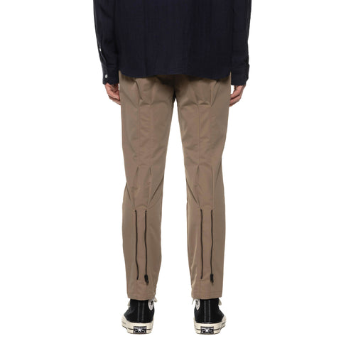 Uniform Experiment Solotex Dry Stretch Twill Back Zip Pants Beige, Bottoms
