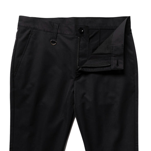Uniform Experiment Solotex Dry Stretch Twill Back Zip Pants Black, Bottoms