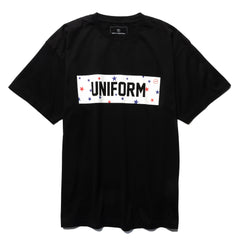 Uniform Experiment Star Box Logo Tee Black, T-Shirts