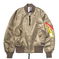 Uniform Experiment Stripe Reversible MA-1 Beige, Outerwear