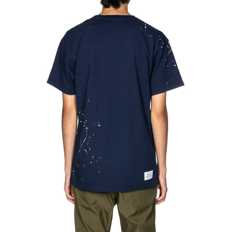 Uniform Experiment UEN Dripping Pocket Tee Navy, T-Shirts