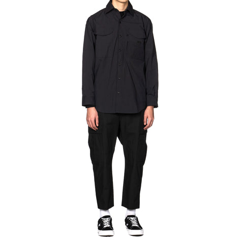 Uniform Experiment Ventilation Pocket Shirt Black, Tops