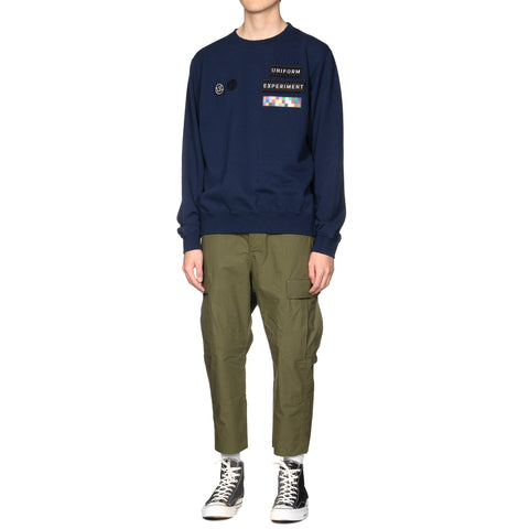 Uniform Experiment Wappen Crew Neck Sweat Navy, Sweaters