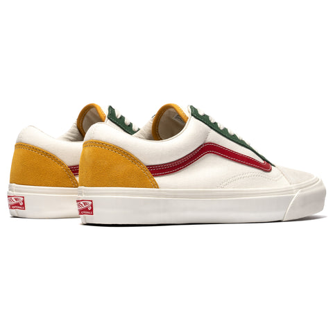Vans Vault OG Old Skool LX (Suede/Canvas) Marshmallow/Multi, Footwear