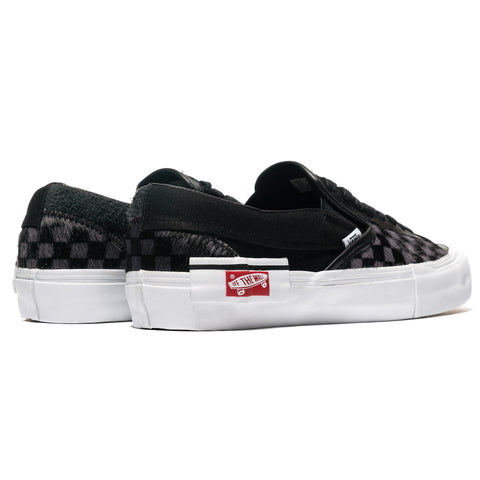 Vans Vault Slip-On Cap LX (Pony) Black/True White, Footwear