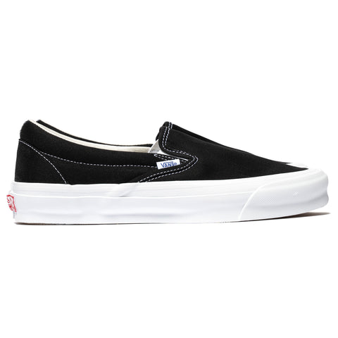 Vans Vault UA OG Classic Slip-On (Canvas) Black/True White, Footwear