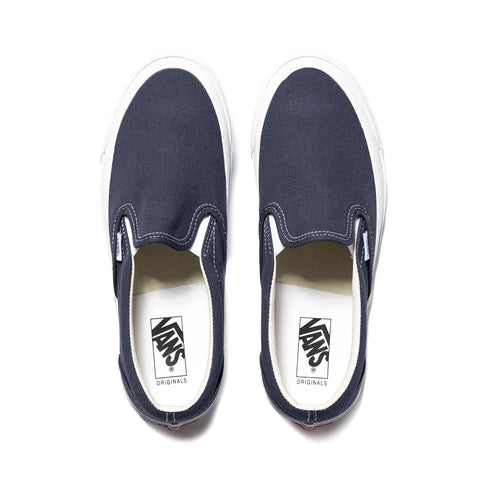 Vans Vault UA OG Classic Slip-On (Canvas) Navy, Footwear