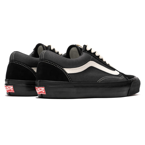 Vans Vault OG Old Skool LX (Suede/Canvas) Black/ Forged Iron, Footwear