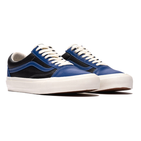 Vans Vault UA Old Skool VLT LX (Leather) True Blue/Marshmallow, Footwear
