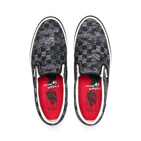Vans Vault x Jim Goldberg UA OG Classic Slip-On Checkerboard Black, Footwear