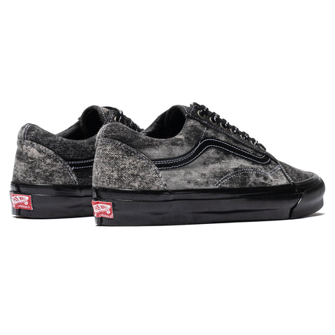 Vans Vault x Jim Goldberg UA OG Old Skool LX Acid Wash Denim Black, Footwear
