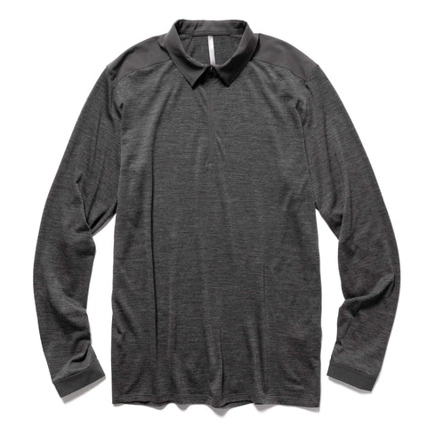 Veilance Frame LS Polo Soot Heather, T-Shirts