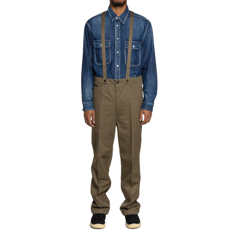 visvim Camus Braces Pants WD Olive, Bottoms