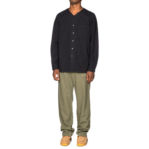 visvim Free Edge Shirt Baseball Collar GIZA Navy, Tops