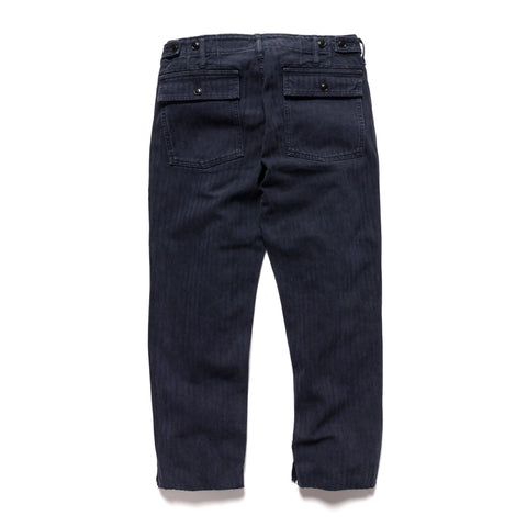 visvim HW Drill Mil Pants (Herringbone) Navy, Bottoms