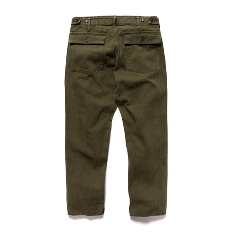 visvim HW Drill Mil Pants (Herringbone) Olive, Bottoms