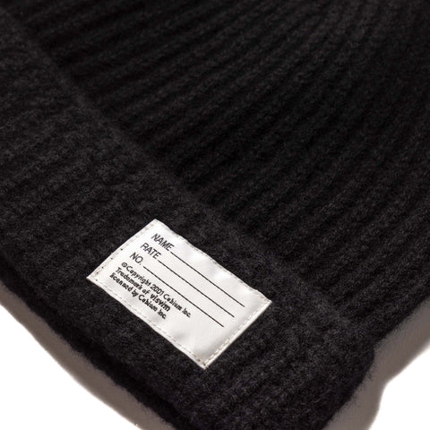 visvim Knit Beanie (Wool) Black, Headwear