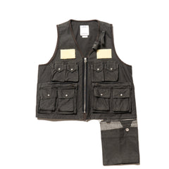 Visvim Pilar Fisherman Vest Black, Vests