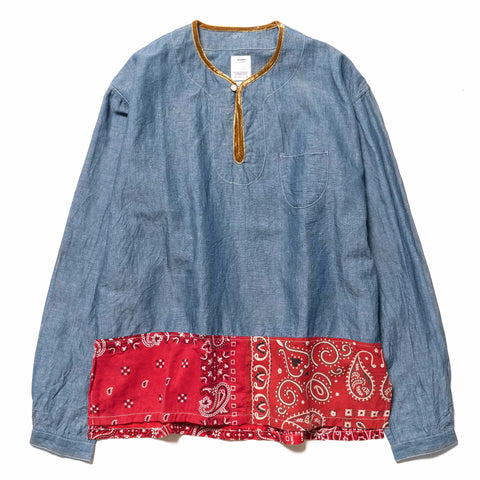 Visvim SS Border Tunic P.O Blue, Tops