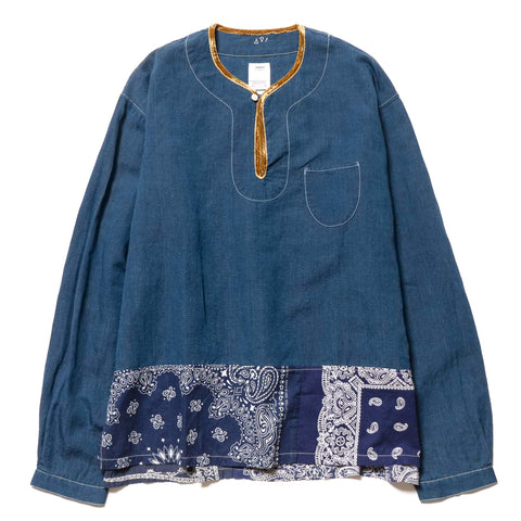 visvim SS Border Tunic P.O Navy, Shirts