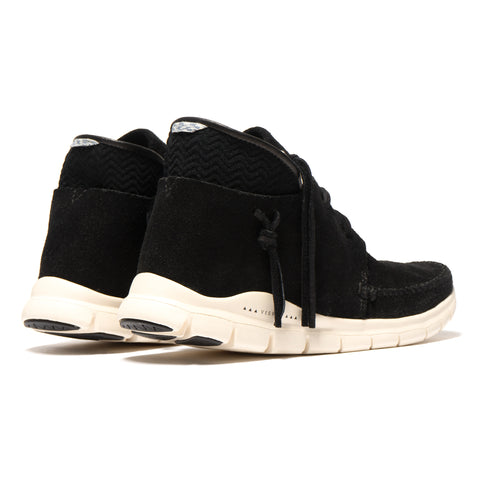 visvim UTE Moc Trainer Mid-Folk Black, Footwear