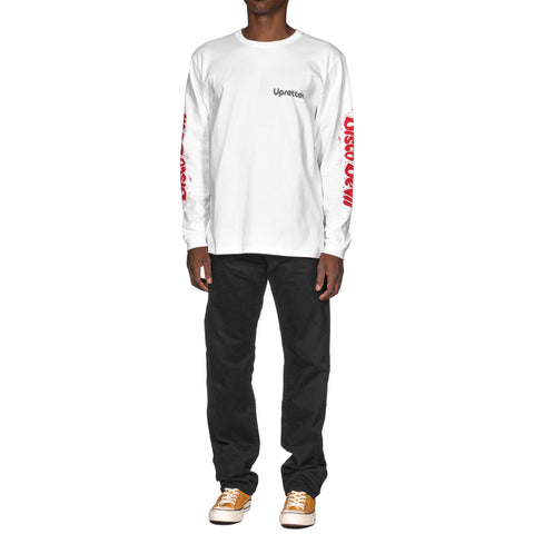 WACKO MARIA Crew Neck Long Sleeve T-Shirt (Type-1) White, T-Shirts