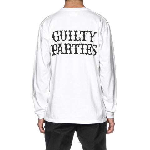 wacko maria Crew Neck Long Sleeve T-Shirt (Type-1) White
