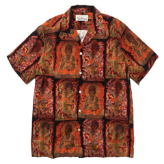 WACKO MARIA Hawaiian Shirt S/S (Type-4) Black, Tops