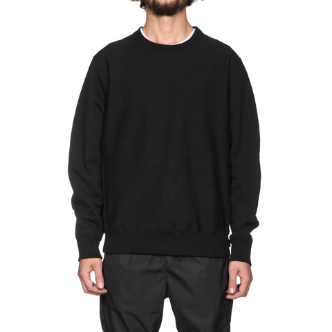 WACKO MARIA Heavy Weight Crew Neck Sweat Shirt (Type-4) Black, Sweaters