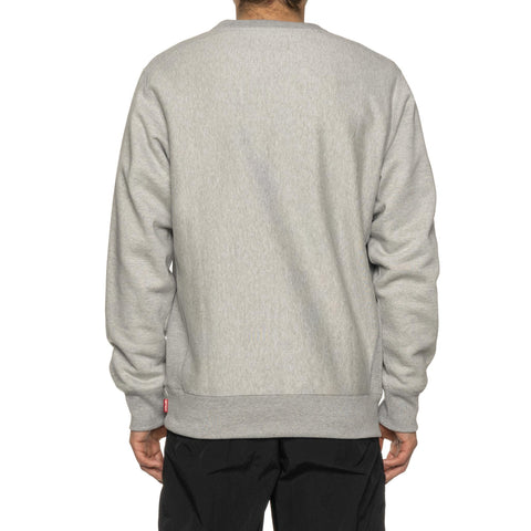 WACKO MARIA Heavy Weight Crewneck Sweat Shirt (Type-1) Gray, Sweaters