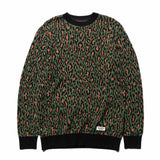 Leopard Jacquard Sweater Green