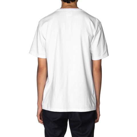 WACKO MARIA Over Size Crew Neck T-Shirt (Type-3) White, T-Shirts