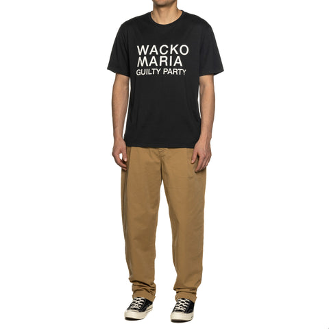 WACKO MARIA Standard Crew Neck T-Shirt (Type-1) Black, T-shrits