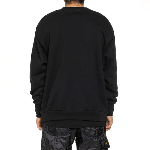 WTAPS Axe . Design Crew Neck 01 / Sweatshirt . Copo Black, Sweaters