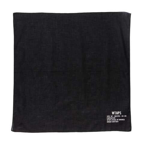WTAPS Bandaria / Bandana . Cotton Black, Accessories