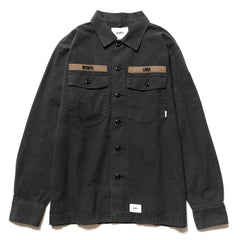 WTAPS Buds LS 01 / Shirt . Cotton. Serge Black, Tops