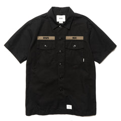 WTAPS Buds SS / Shirt. Cotton. Ripstop Black, Tops