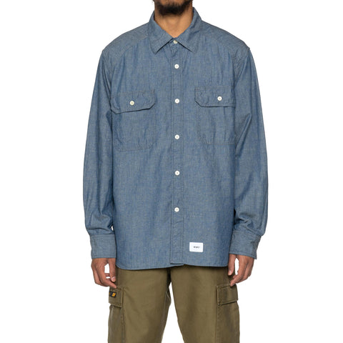 WTAPS Cell LS / Shirt Lico . Chambray Indigo, Shirts