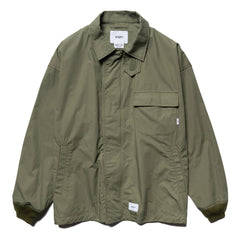 WTAPS D2 / Jacket . Cotton . Weather Olive Drab, Outerwear