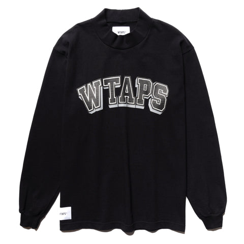 WTAPS Dawn. Mock Neck LS / Tee. Cotton Black, T-Shirts