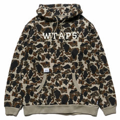 WTAPS Design Hooded College / Sweatshirt . Cotton Camo Olive Drab, Sweaters