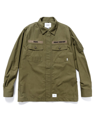 WTAPS Flyers / LS / Cotton. Weather Olive Drab, Shirts