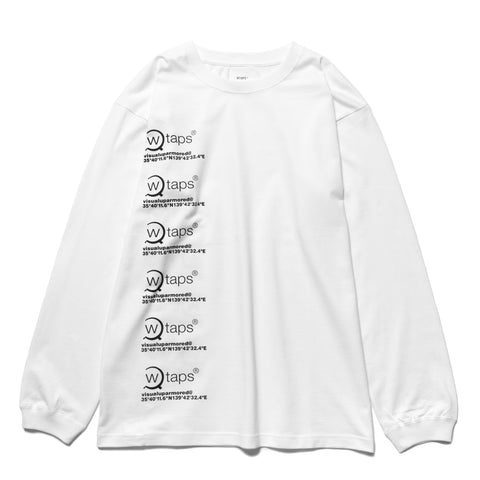 3e1dd71f3 WTAPS GPS LS / Tee. Cotton White, T-Shirts ...