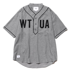 WTAPS League SS / Shirt. Cotton. Oxford Gray, Tops