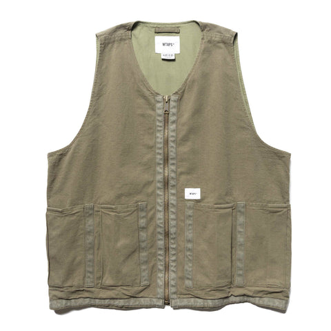 WTAPS Rack / Vest . Cotton . Oxford Olive Drab, Outerwear