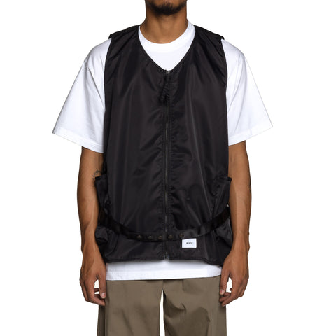 WTAPS Rack / Vest. Nylon Twill Black, Outerwear